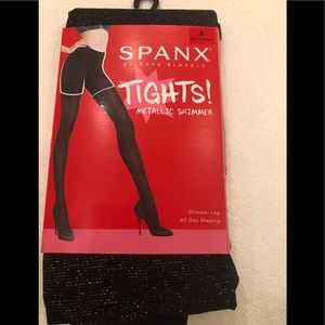 Spanx Metallic Shimmer Tights, size A